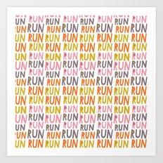 Pattern Project #19 / Run Run Run Art Print