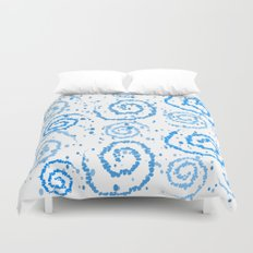 Abstract Blue Squigglisciousness Duvet Cover