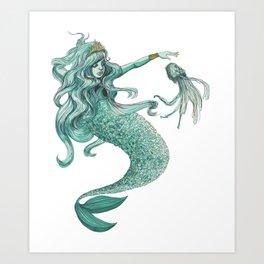 Enchanting Mermaid Art Print