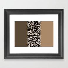Leopard National Flag XVIII Framed Art Print