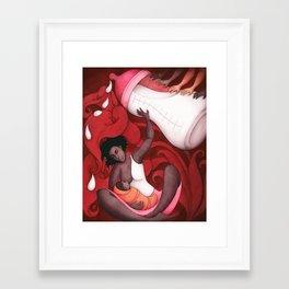 Breastfeeding and African-American Women Framed Art Print