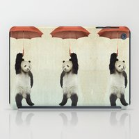 panda iPad Cases featuring Pandachute by Vin Zzep