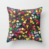 mosaic Throw Pillows featuring Mosaic by Klara Acel