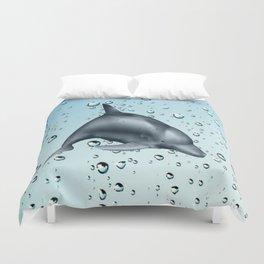 Swimming Dolphin Duvet Cover
