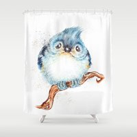 baby Shower Curtains featuring Baby titmouse by Patrizia Ambrosini