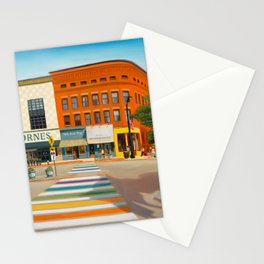 Downtown Northampton, MA Art Print Stationery Cards