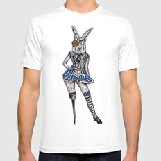 Alice Rabbit MEDIUM Mens Fitted Tee White