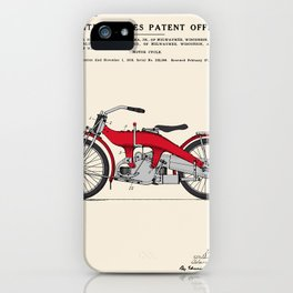 Motorcycle Patent iPhone Case