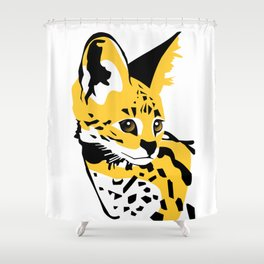 Serval 01 Shower Curtain