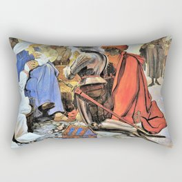 The three wise men - Maximilian Liebenwein Rectangular Pillow