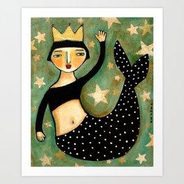 Vintage Mermaid Art Print