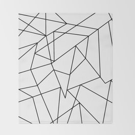 Simple Modern Black and White Geometric Pattern Throw Blanket