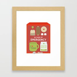 Emergency Tea Framed Art Print