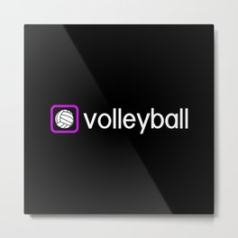 Volleyball (Purple) Metal Print