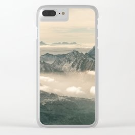 Mountain panorama Hintertux Clear iPhone Case