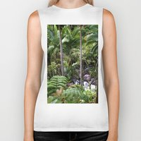 hawaiian Biker Tanks featuring Hawaiian Jungle by Moody Muse