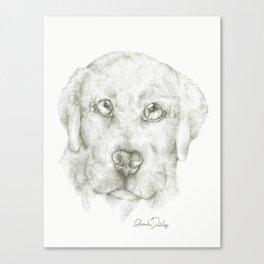 Puppy Cuddle  Canvas Print