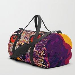 owl strix bird v2 vector art late sunset Duffle Bag