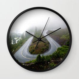 Artist Point in the Fog Wall Clock