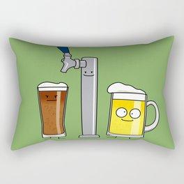 Beer Tap Trio Rectangular Pillow