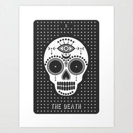 Minimal Tarot Deck The Death Art Print