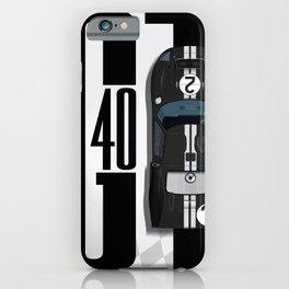 GT40 Black Top Tribute iPhone Case
