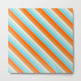Goldfish Diagonal Striped Pattern Metal Print