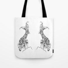 Grey Koi Tote Bag