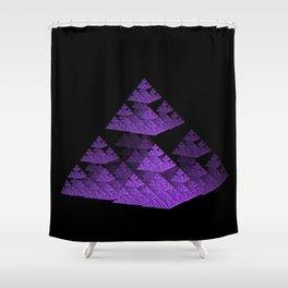 3D Fractal Pyramid Shower Curtain