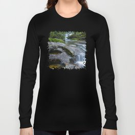 Waterfalls in wild forest Long Sleeve T-shirt