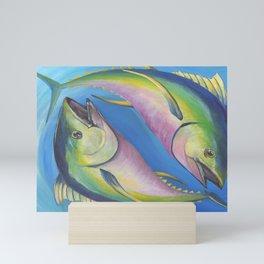 Fin and Yang Tuna Fish In Ocean Mini Art Print