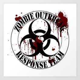 Neverlands Zombie Outbreak Response Team Art Print
