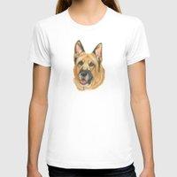 german shepherd T-shirts featuring German shepherd - in color by Doggyshop