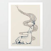 huebucket Art Prints featuring Pacifier by Huebucket