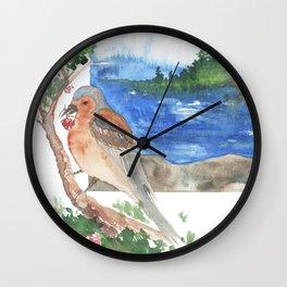 Bird by the beach Wall Clock