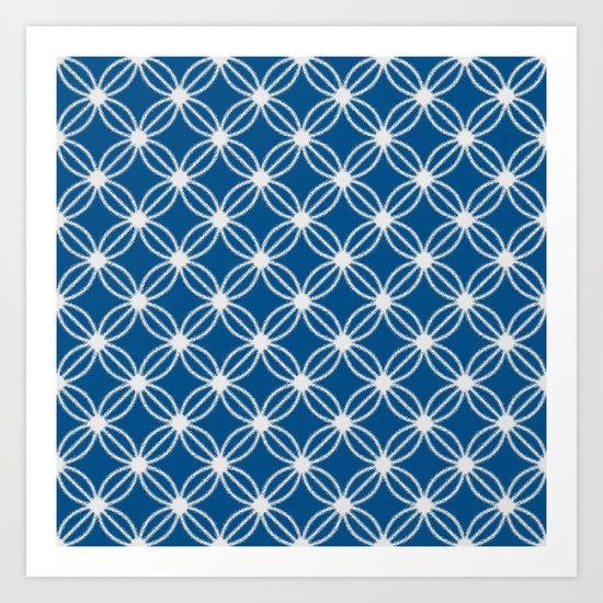 Abstract Circle Dots Art Print