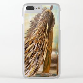 Autumn Guardian Clear iPhone Case