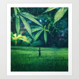 Cannabis Forest Art Print