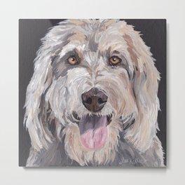 Golden Doodle Art,  Labradoodle art, Doodle dog art Metal Print