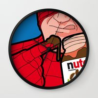 secret life Wall Clocks featuring secret life by eatpersonality