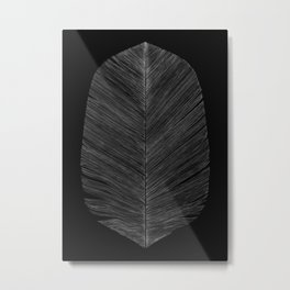 BLACK FEATHER Metal Print