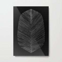 BLACK FEATHER Metal Print