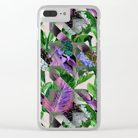 Floral and Geometric Clear iPhone Case