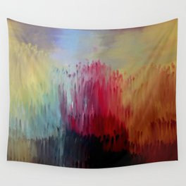 """""""Release"""" Original oil finger painting by Monika Toth Wall Tapestry"""
