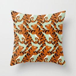 Tiger Conga pattern Throw Pillow