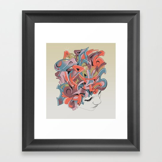 Graffiti Head Framed Art Print