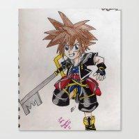 kingdom hearts Canvas Prints featuring Kingdom Hearts by Juui-Chan