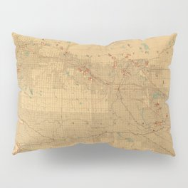 Canadian Mounted Police Map Pillow Sham