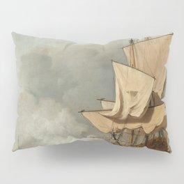 """Willem van de Velde II (Dutch Golden Age) """"Het Kanonschot (The Cannon Shot)"""" Pillow Sham"""