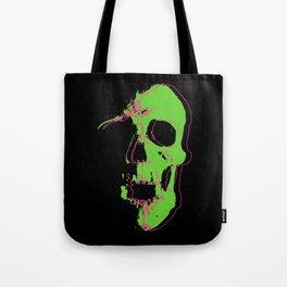 Skull - Lime Tote Bag